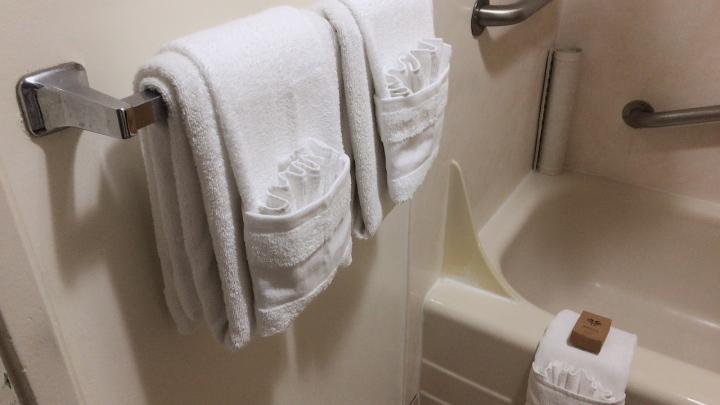 アストンワイキキバニアン:バスルームとタオル