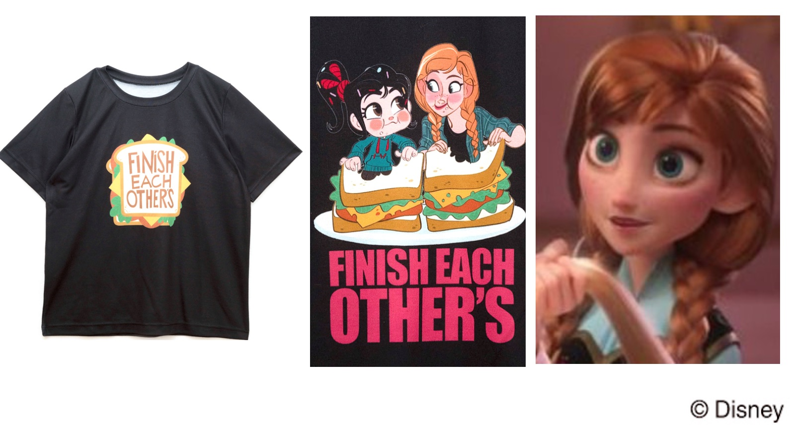 アナ(アナと雪の女王)シュガーラッシュオンライン、プリンセスの私服Tシャツに隠された意味って?