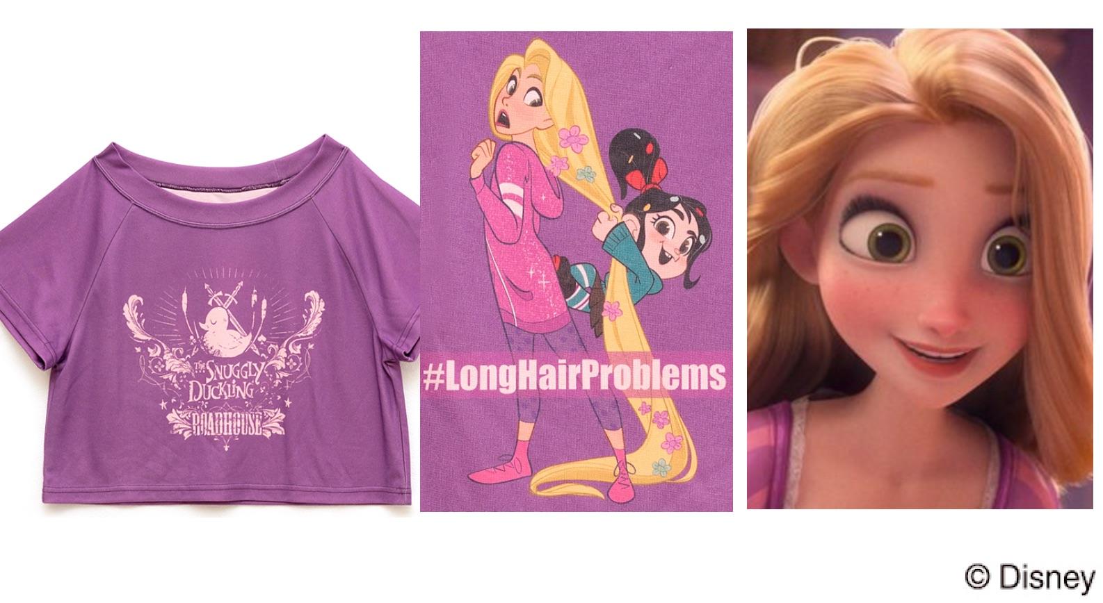 ラプンツェル(塔の上のラプンツェル)シュガーラッシュオンライン、プリンセスの私服Tシャツに隠された意味って?