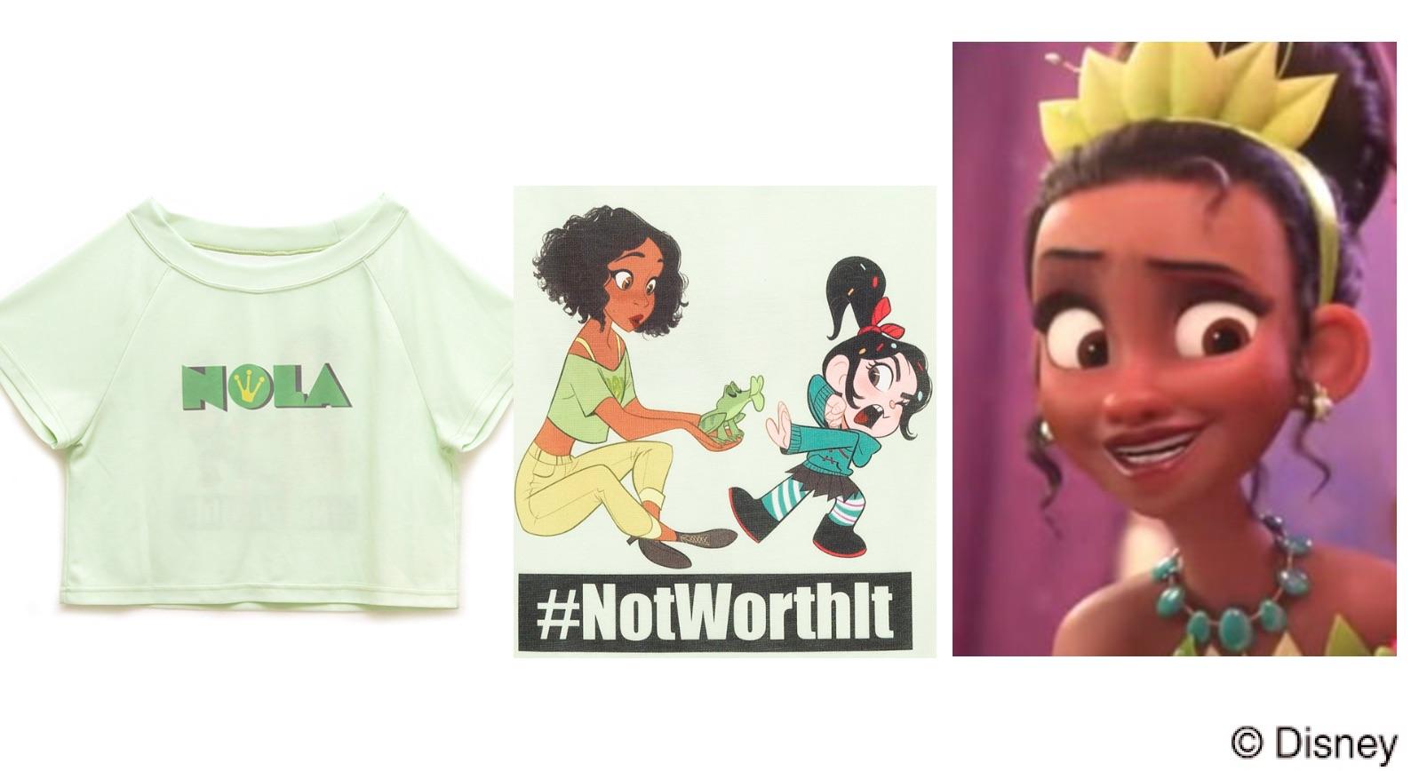 ティアナ(プリンセスと魔法のキス)シュガーラッシュオンライン、プリンセスの私服Tシャツに隠された意味って?