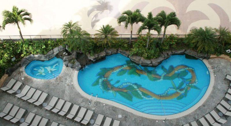 ヒルトンハワイアン:カリアタワープール