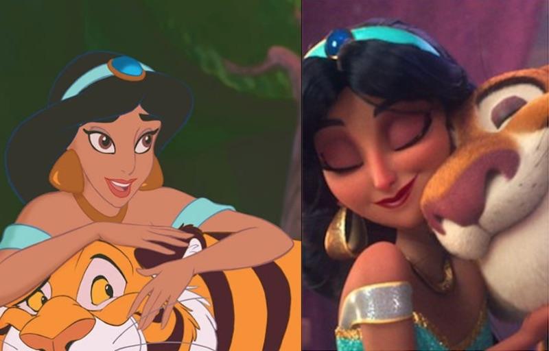 ジャスミン(アラジン)黒人やアジア人プリンセスが白人化?シュガーラッシュオンライン