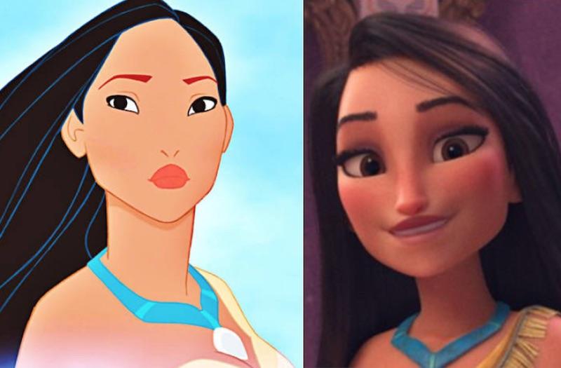 ポカホンタス 黒人やアジア人プリンセスが白人化?シュガーラッシュオンライン